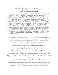 The STAR Barrel Electromagnetic Calorimeter Author list still under ...
