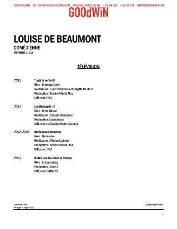 Curriculum vitæ complet (pdf) - Agence Goodwin
