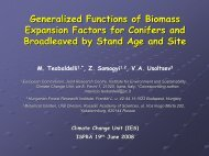 Generalized Functions of Biomass Expansion Factors for Conifers ...