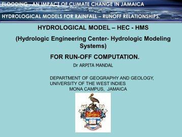 HYDROLOGICAL MODEL – HEC - HMS (Hydrologic ... - Uwi.edu