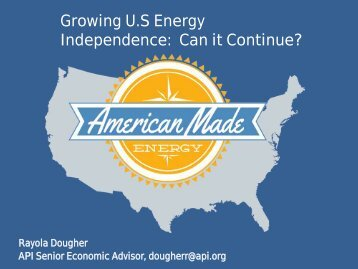American Petroleum Institute - Louisiana Energy Conference