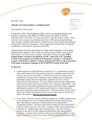 GSK - Letter to Hcps re PAXIL - Dec 2005