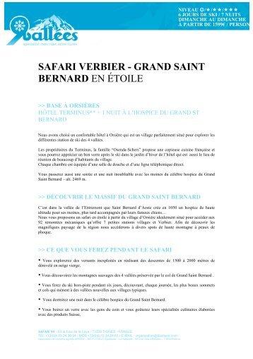 safari verbier - grand saint bernard en étoile - Ski Safari 9 vallées