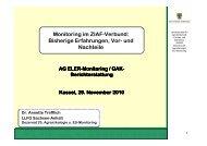A. Trefflich: Monitoring im ZIAF-Verbund - MEN-D