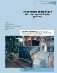 Valorisation énergétique des sous-produits de scieries