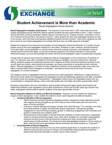 Student Achievement is More than Academic - Pennsylvania State ...