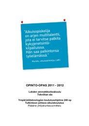 OPINTO-OPAS 2011 - 2012 - Lahden ammattikorkeakoulu