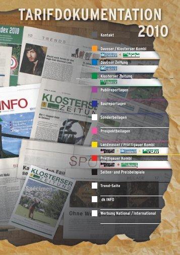 Kontakt Davoser / Klosterser Kombi Davoser Zeitung Klosterser ...