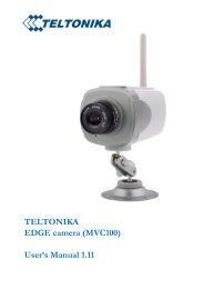 TELTONIKA EDGE camera (MVC100)
