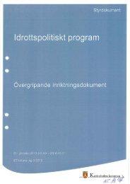 Idrottspolitiskt program, 1 MB - Katrineholms kommun