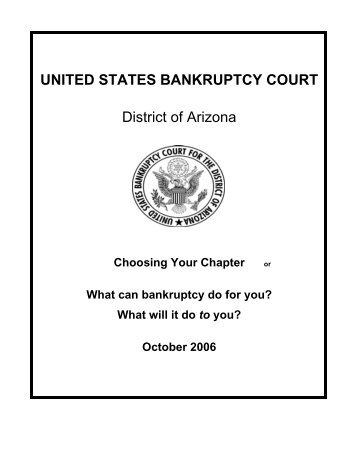 UNITED STATES BANKRUPTCY COURT District of Arizona