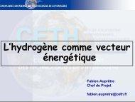 L'hydrogène comme vecteur énergétique - IPN