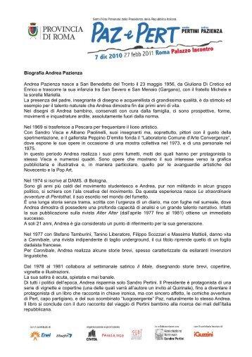 Biografia Andrea Pazienza - Fandango Incontro