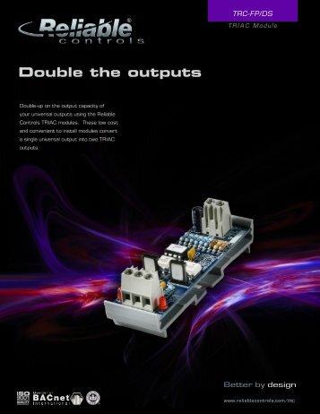 TRIAC MODULE - Reliable Controls