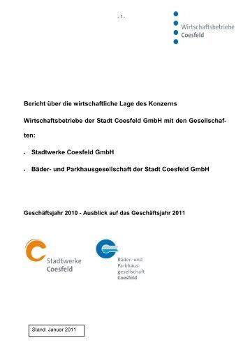Bericht über die wirtschaftliche Lage des Konzerns ... - Stadt Coesfeld