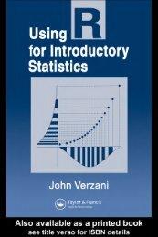 Using R for Introductory Statistics : John Verzani