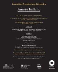 Amore Italiano - Australian Brandenburg Orchestra