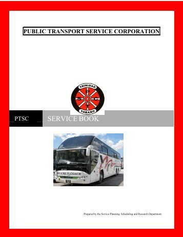 Trinidad and Tobago Bus Schedule