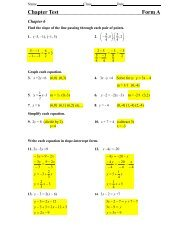 Chapter 6 Test with solutions