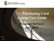 Purchasing Card System User Guide - TTUHSC :: Finance ...