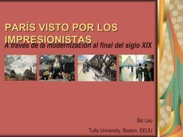 PARÍS VISTO POR LOS IMPRESIONISTAS - Aula de Bellas Artes