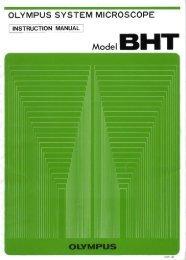 Olympus System Microscope Instruction Manual Model BHT