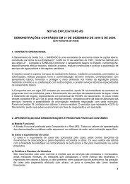 Notas Explicativas - Saneago