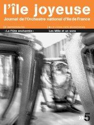 Téléchargez ici l'édition n° 5 - Orchestre national d'Ile-de-France