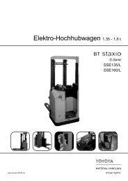 Elektro-Hochhubwagen Staxio SSE135(L) - Toyota Material ...