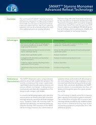 SMARTSM Styrene Monomer Advanced Reheat Technology - CB&I