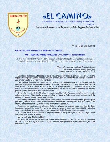 Nº 43 – 3 de julio de 2008 - Instituto Cristo Rey