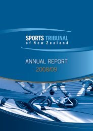 ANNUAL REPORT 2008/09 - Sports Tribunal of New Zealand