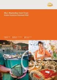 MLC MasterKey Unit Trust Product Disclosure Statement
