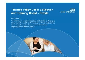 Thames Valley LETB Profile - Workforce and Education