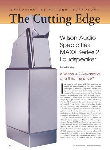 Wilson Audio Specialties MAXX Series 2 Loudspeaker