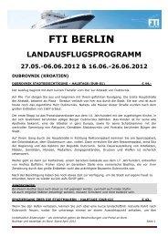 FTI BERLIN Landausflugsprogramm Route ATHENE ... - FTI Cruises