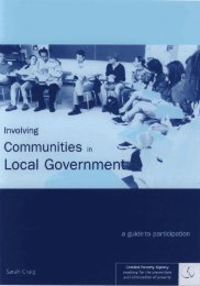 Involving Communities in Local Government - Combat Poverty Agency