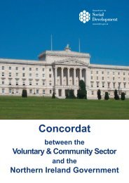 Concordat - Department for Social Development