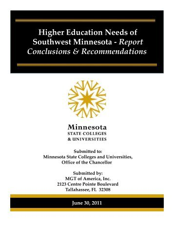 a summary of the report. - Minnesota State Colleges and Universities