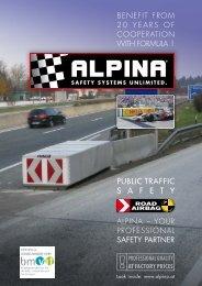 PUBLIC TRAFFIC S A F E T Y - Alpina Sicherheitssysteme