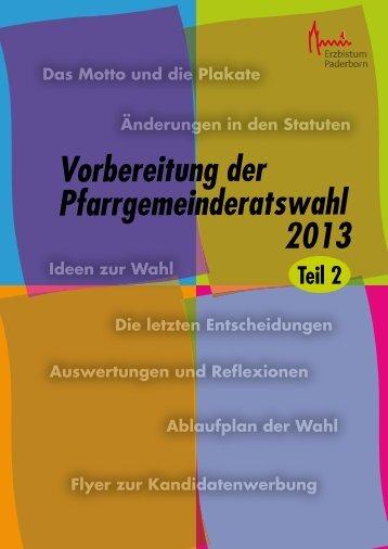 Broschüre - Pastorale Informationen