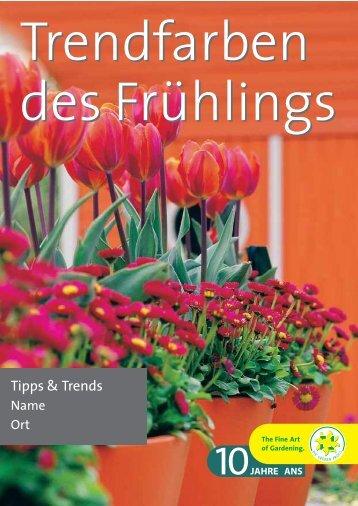 Trendfarben des Frühlings Trendfarben des ... - grneprofis-beb.ch
