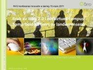 Bruk av Web 2.0 i ein virtuell campus