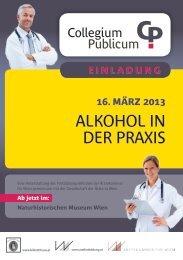 Alkohol in der PrAxis - Gesellschaft der Ärzte in Wien