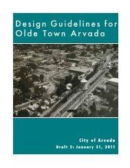 Design Guidelines for Olde Town Arvada