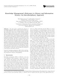 Knowledge Management's Relevance to Library and ... - Main Web