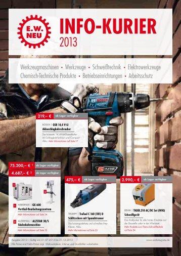 Info-Kurier 2013 - EW NEU GmbH Worms/Speyer – Werkzeuge ...