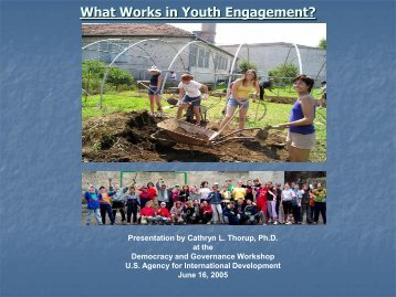 What Works in Youth Engagement? - EQUIP123.net