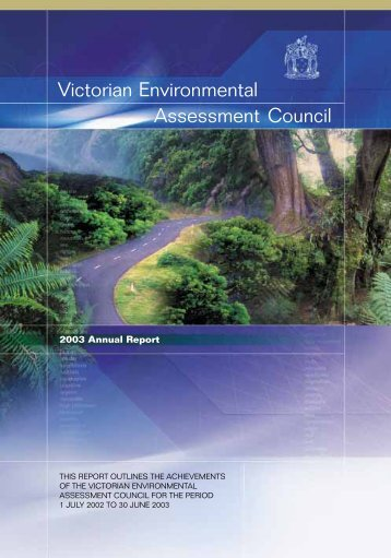 Annual Report 2003 - Victorian Environmental Assessment Council