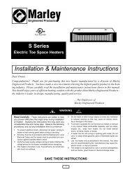 Installation & Maintenance Instructions - Thermal Equipment Sales ...